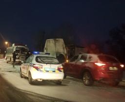 ДТП в Константиновке: столкнулись два автобуса (ФОТО)