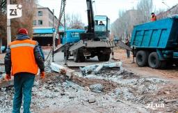 В Константиновке демонтируют трамвайные рельсы: Проезд на данном участке временно ограничен