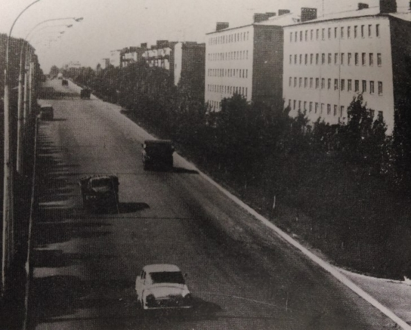Проспект Ломоносова, район 5-й больницы. 60-е годы 20 века.