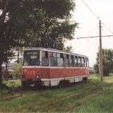 Вагон 143 на улице Ленина. Фото: Harald Kuchwalek, 19.6.1992