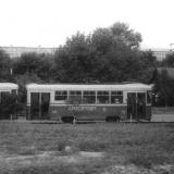 Поезд КТМ+КТП-2 26+69 на улице Ленина из окна беспересадочного вагона Таллинн – Адлер. Фото: Ilmar Adamson, июль 1963.