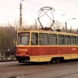 Первые 10 вагонов КТМ-5 (№№ 100-109) поступили в 1976 году. Дольше всего из них работал учебный вагон 103. Фото АО, 31.10.1991.