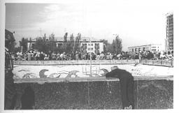 Фонтан на площади ДК Октябрь