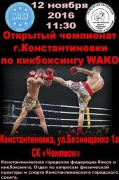 Открытый чемпионат Константиновки по кикбоксингу WAKO