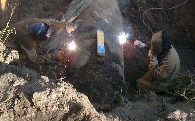 Устранение утечек на Втором донецком водопроводе