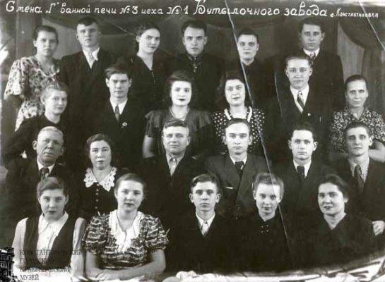 Смена «Г» ванной печи №3 цеха №1 бутылочного завода. 1957 г.