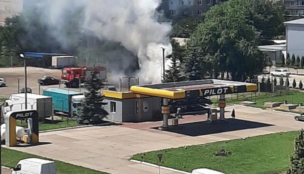 В Константиновке случился пожар рядом с АЗС