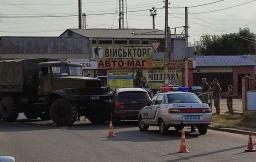 ДТП в Константиновке: Грузовик врезался в кроссовер