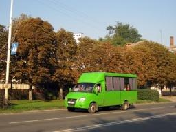 Движение транспорта во время празднования Дня города Константиновка