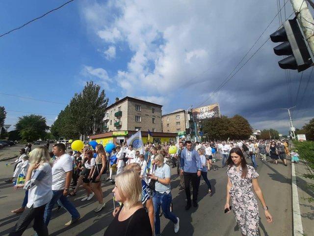 День Независимости Украины в Константиновке: «Хода миру» и праздничный концерт