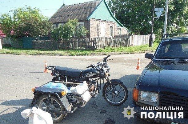 В Константиновке полицейские устанавливают обстоятельства ДТП с участием мотоциклиста