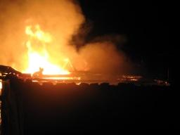 В селе Катериновка в результате пожара пострадала женщина