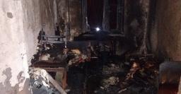 В пезультате пожара в Константиновке пострадал мужчина