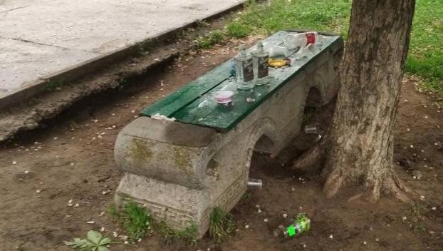 Коммунальщики показали последствия ночных вечеринок в парках Константиновки